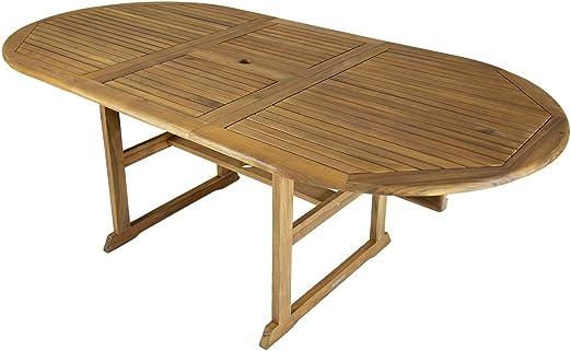 Bentley Garden - Mesa de madera grande ovalada extensible para jardín: Amazon.es: Jardín