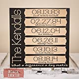 Our Story Sign - Wood Engraved Family Decor - Anniversary Gift -...