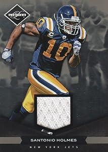 2011 Limited JERSEY NFL Football #67 Santonio Holmes 58/99 New York Jets