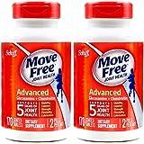 2瓶装|Schiff Move free 旭福 维骨力氨糖软骨素片剂红瓶养护版 170粒/瓶 关节日常养护 美国品牌 包税