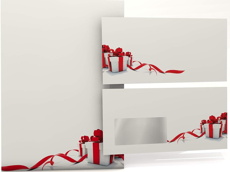 Weihnachtsgeschenke 20.Weihnachtspapier Geschenke Rot 20 Blatt Weihnachts Motivpapier 90g