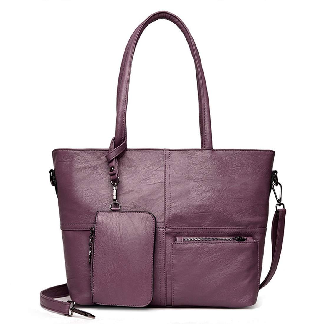 Dhrfyktu Frauen Top Griff Satchel Geldbörsen und Handtaschen Schulter Tote Bags Wallet Sets (Farbe   Wine rot) B07NZ5RCC1 Geldbrsen