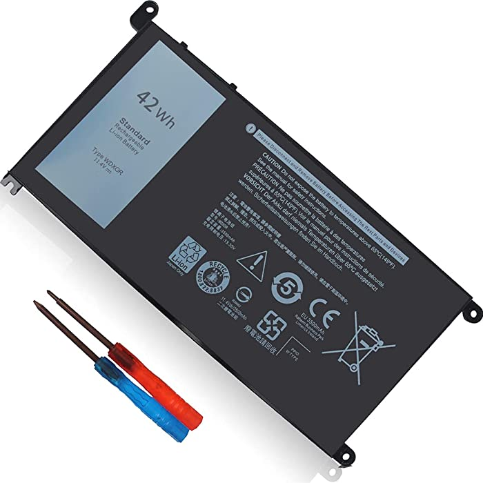 42Wh WDXOR 11.4V Battery for Dell Inspiron 13 7375 7368 7378 5368 5378 5379 P69G 15 7579 7560 7570 7569 7573 5570 5567 5565 5568 5578 5579 5575 17 5765 5767 5770 5775 P58F P66F P75F 3CRH3 FC92N CYMGM