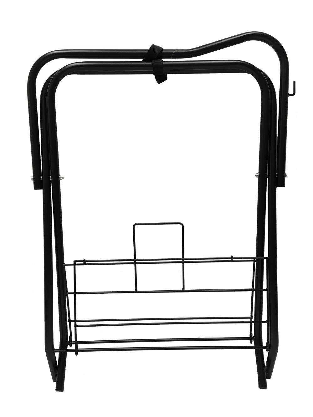 Horse Saddle Rack Stand Folding Storage Metal Black Saddle Tack Stable by AJ Tack Wholesale