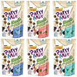 Purina Friskies Party Mix Naturals Cat Treats Variety Pack – 2.1 Ounces – 3 Flavors – Real Chicken, Real Salmon, and Real Tuna (6 Pouches Total) For Sale