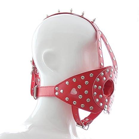 FENICAL Fetiche de cuero arnés máscara BDSM arnés cabeza máscara ...