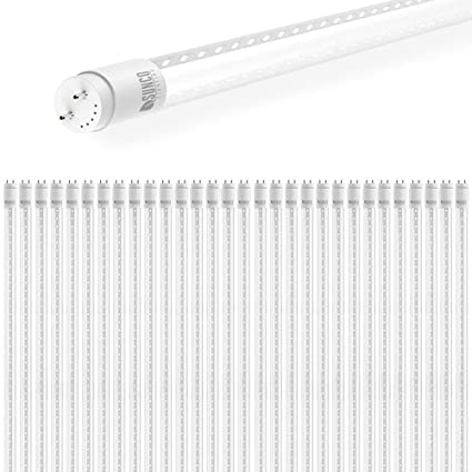 Sunco Lighting 30 Pack 4FT T8 LED Tube, 18W=40W Fluorescent, Clear on