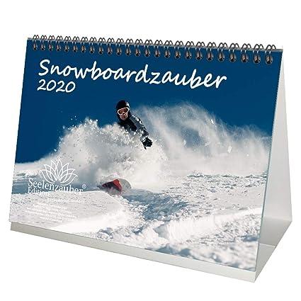 Snowboardzauber - Calendario de mesa (formato DIN A5, 2020 ...