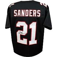 $179 » Deion Sanders Autographed Atlanta Falcons Custom Black Football Jersey - JSA (B)