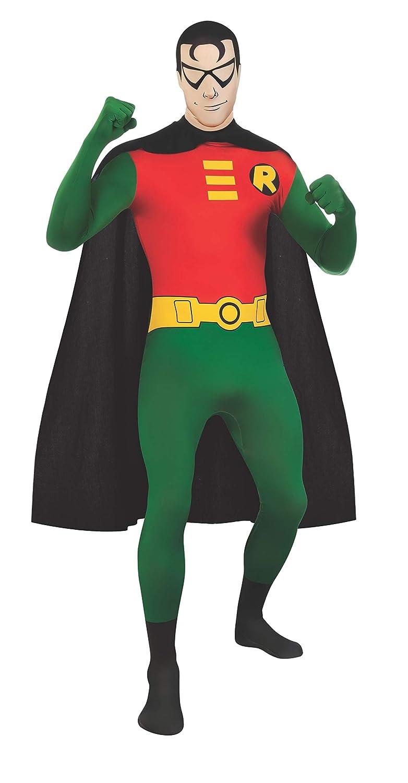Rubie's Men's DC Comics 2nd Skin, Robin, Medium Rubies Costumes - Apparel 880561M