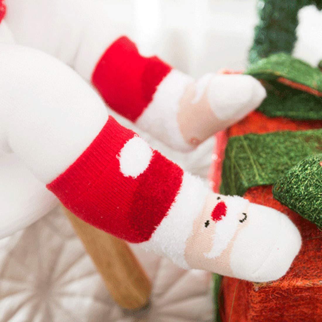 Yvsoo Chaussette Noel Chaussette Enfant Chausette Bebe 4Paires Chaussettes de No/ël Chausette de Conton 100/% D/écoration de No/ël