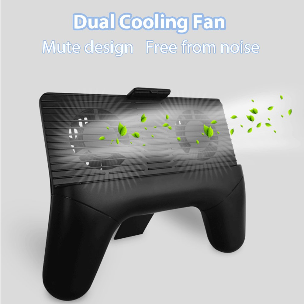 Game coolers portable - Cell Phone Radiator Miuko 4 In 1 Cellphone Cooler Stand Holder Portable Power Bank Game Pad Cooling Fan For Iphone Android Samsung Smartphone Black