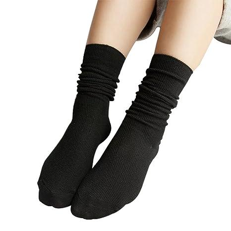 Skyeye Calcetines finos para mujer Calcetines largos para tubo
