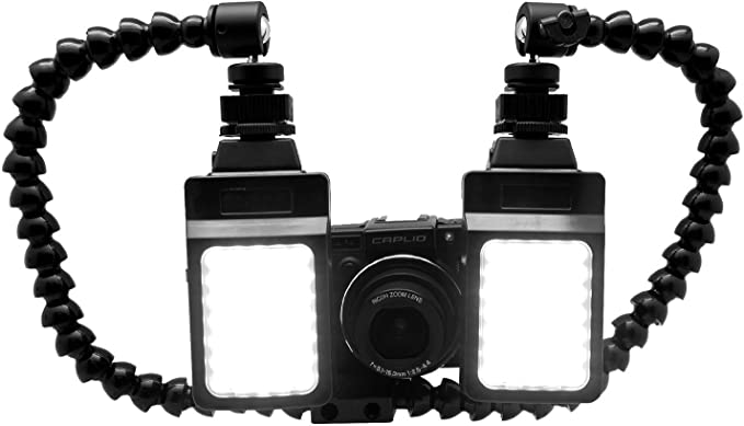 Dopobo Dual Arm Makroblitz Halter Halterung Für Canon Kamera