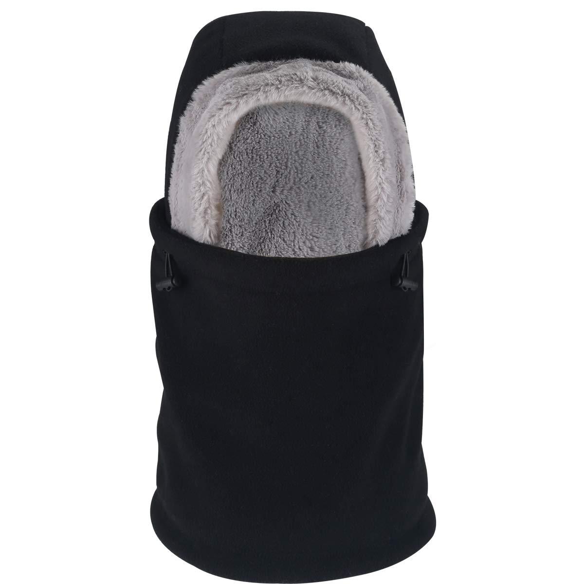 Enkarl Unisex Fleece Balaclava, Windproof Winter Outdoor Sports Face Mask Hood Headgear Neck Warmer for Men and Women