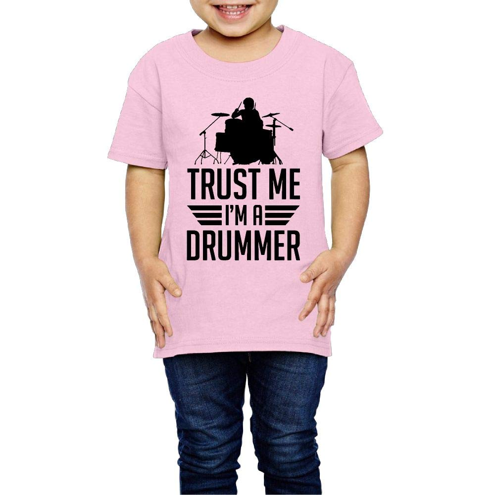 XYMYFC-E Trust Me Im The Drummer 2-6 Years Old Kids Short Sleeve T Shirt
