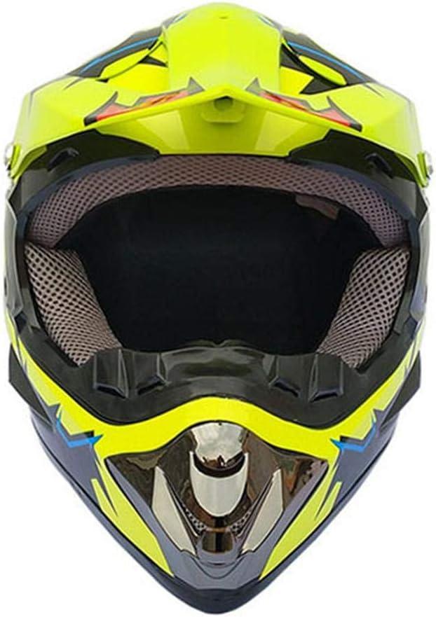 Casque de motocross Four Seasons hommes et femmes casque tout-terrain casque complet envoyer des lunettes masque facial gants pour adultes et enfants