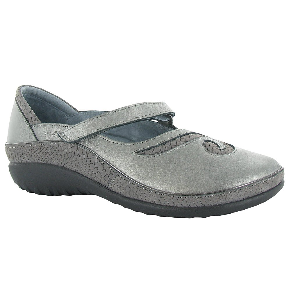 NAOT Matai Koru Women Flats Shoes B01M7T0HML 38 M EU|Sterling Lthr/Gray Iguana Nub
