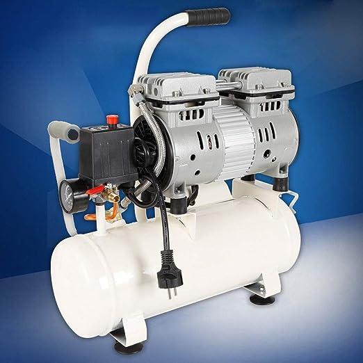 Oukaning - Compresor de aire comprimido (680 W, 12 L, sin secadora, sin aceite, dentista, silencioso): Amazon.es: Bricolaje y herramientas