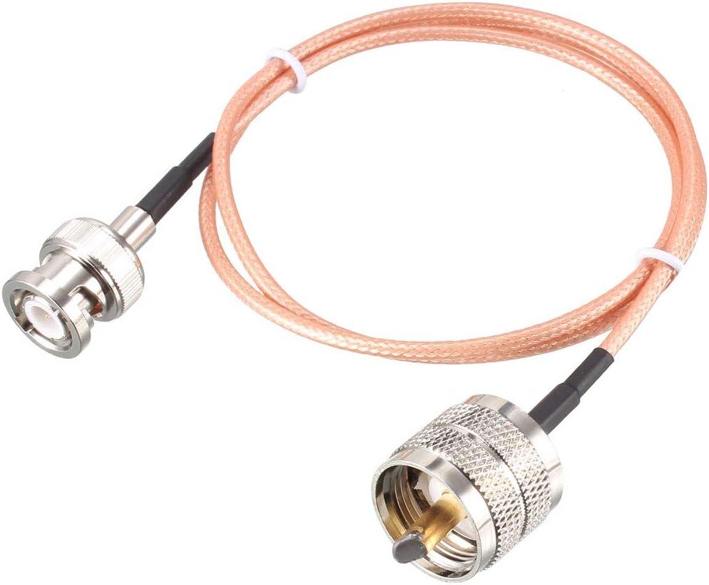 sourcing map Cable de Radio de Antena RG316 de Macho UHF ...
