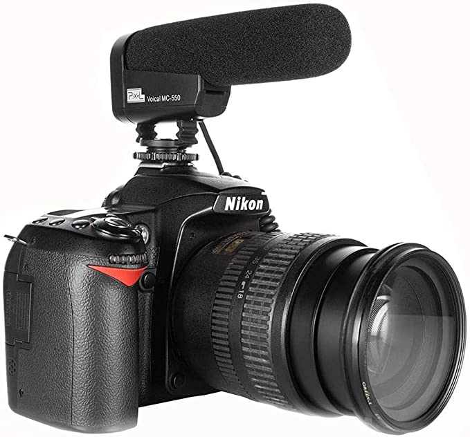 PIXEL Micrófono Direccional, Condensador Fotografía Entrevista ...