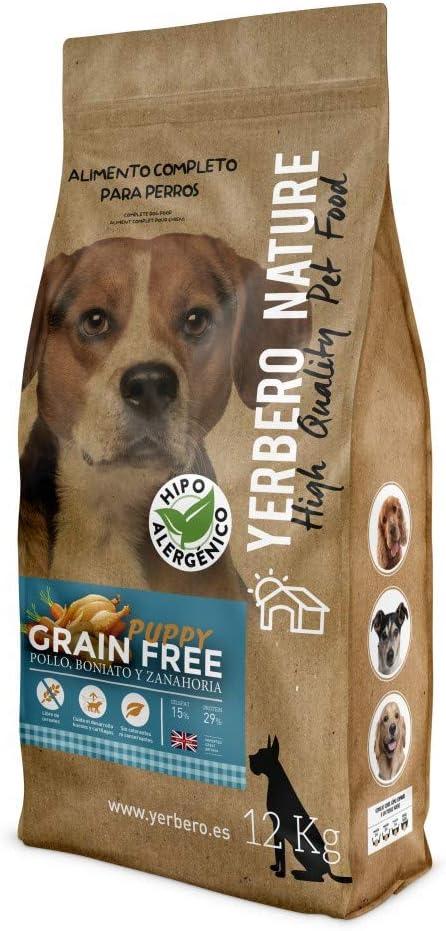 YERBERO Nature Grain Free Puppy Comida para Cachorros SIN Cereales 12kg