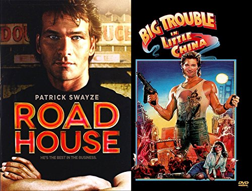Kurt Russell Patrick Swayze 2-Movie Action Bundle - Big Trouble in Little China & Road House 2-DVD Set