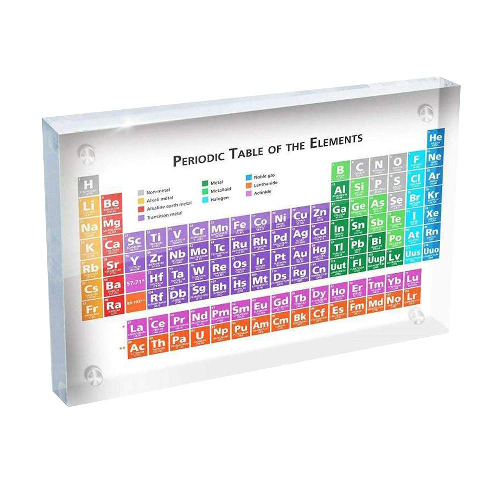 Aslion Periodic Table Display with Elements Student Teacher Gifts Crafts Decor by Aslion