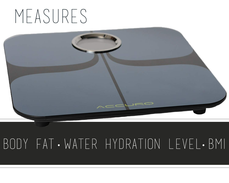 SmartBody Scale+Bluetooth Body Fat Scale - Black by Accuro