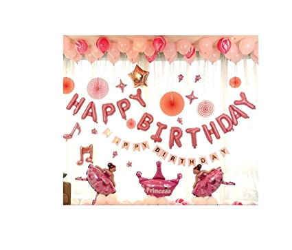 Decoración de cumpleaños niña, Paquete de Globos Fiesta ...