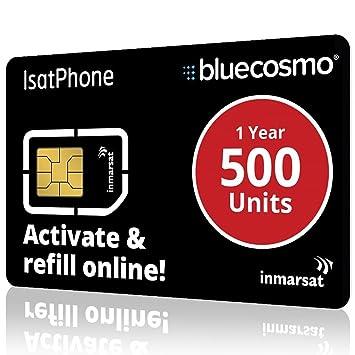 BlueCosmo Tarjeta SIM de prepago de Isatphone Inmarsat 5 ...