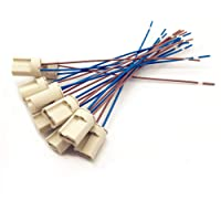 10 Delige Lamphouder van Keramiek,G9 Lamphouders Teflondraad, Halogeenlampen Keramische Connectorvoet, G9 Lamphouder…