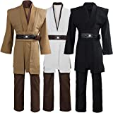 Laku Tunic Costume Jedi Cosplay Costume Mens Halloween Cosplay Costume Tunic Robe Full Set