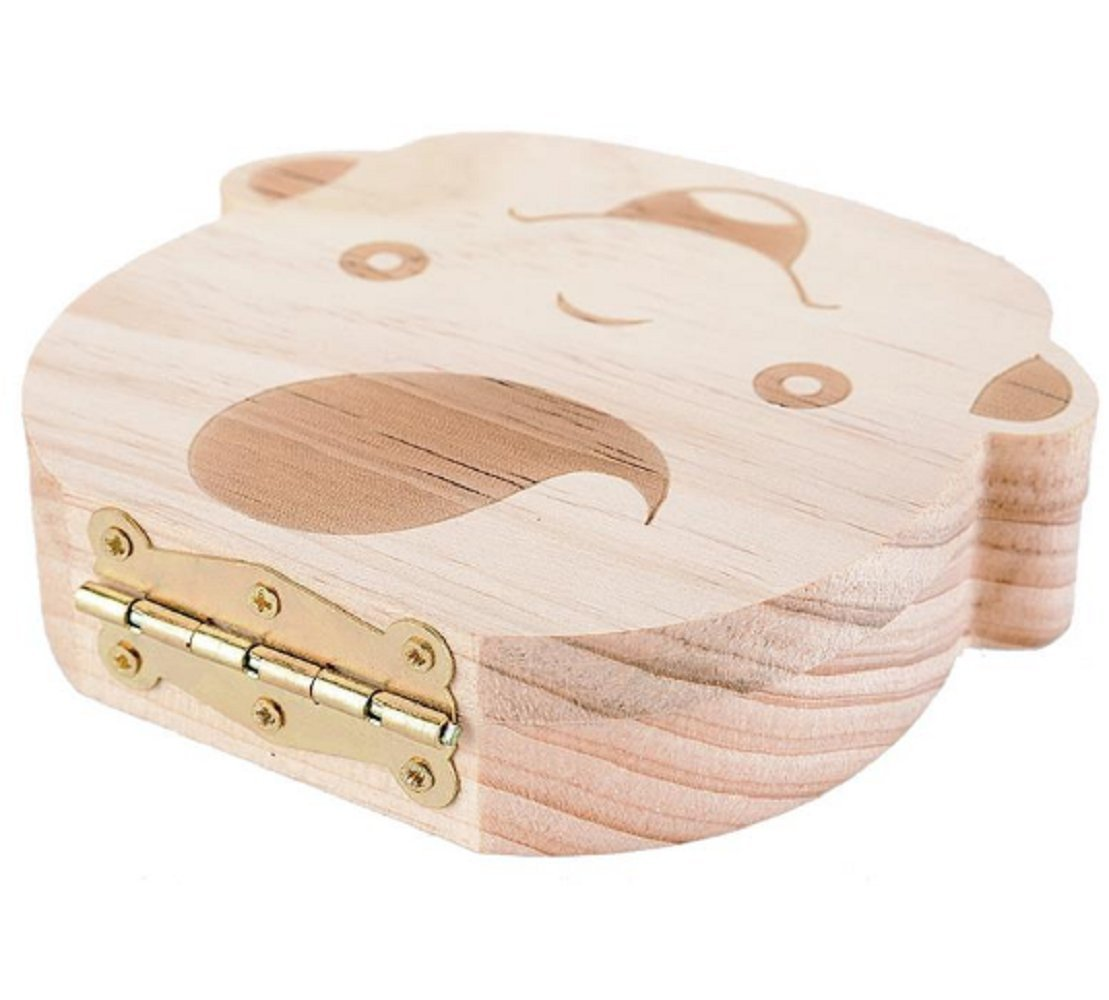 5X Baby Organizer Dental Teeth Box Milk Tooth Wooden Container Save Storage Collecting Teether Safe Wood Storage Boxes for Boy