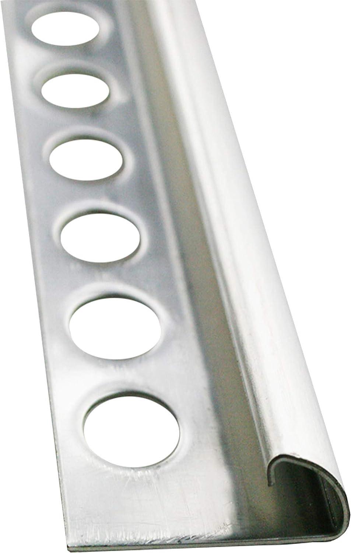 PREMIUM FUCHS Au/ßenecke Vollmaterial kein Abbl/ättern m/öglich H: 9mm Viertelkreisprofil Edelstahl V2A Geb/ürstet