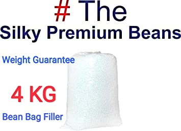 TITTLE Beans 4 KG Premium A-Grade for Bean Bag Filler/Refill/Filling.