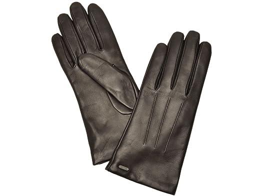 5f4c3d2fc1d9 (コーチ) COACH 手袋 グローブ ブラック レッド レザー f85156 アウトレット レディース ブランド 並行輸入品