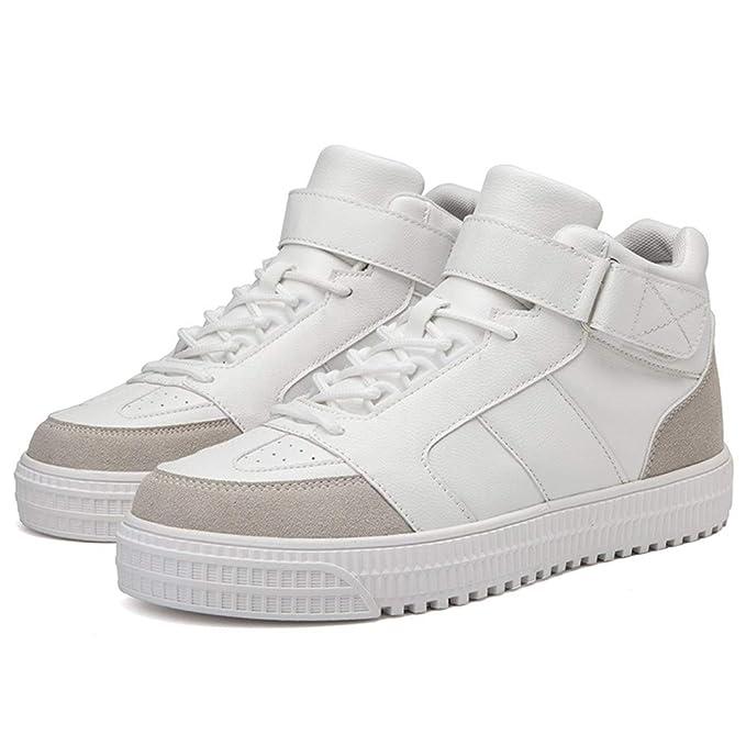 JiaMeng Zapatillas Deporte Hombre Zapatos de Entrenamiento para Hombre Casuales cómodos y cómodos con Botines Inferiores Gruesos Zapatillas Deportivas: ...