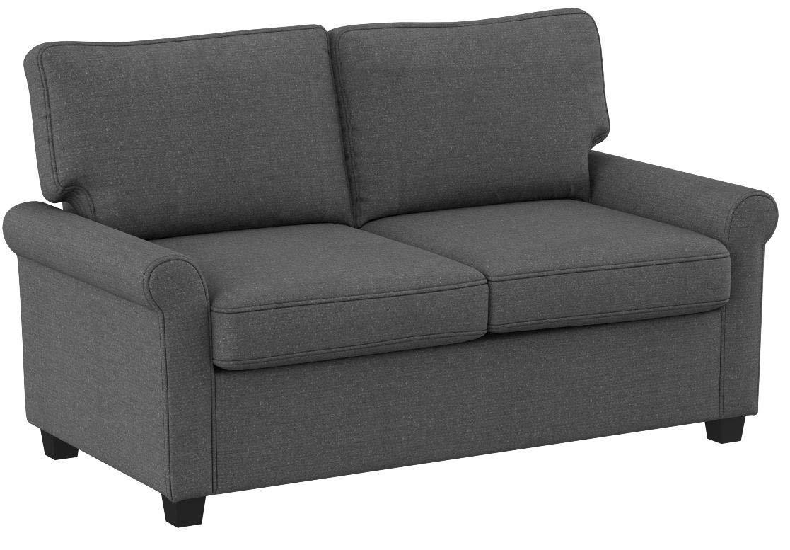 Mainstays Sofa Sleeper with Memory Foam Mattress | No-tool Easy Assembly (Grey) by Mainstay