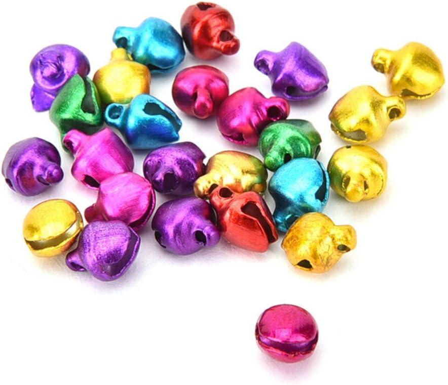 6 mm HonXins Lot de 100 Petites clochettes color/ées /à Coudre
