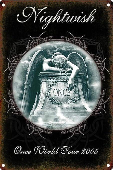 Shunry Nightwish Placa Cartel Vintage Estaño Signo Metal De ...