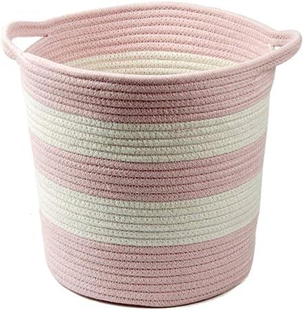 MJB Cesto de Tela de algodón Grueso cesto Cesta de lavandería Cesta de Almacenamiento de Juguete (Color : B): Amazon.es: Hogar