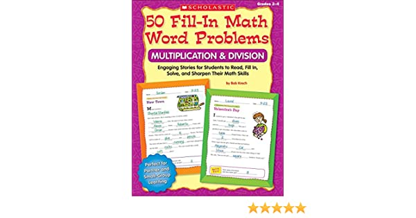 Amazon.com: 50 Fill-in Math Word Problems: Multiplication ...