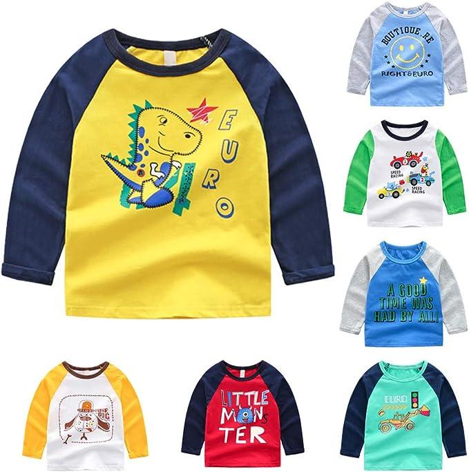Lazzboy Camisa para Bebé Niña Niño Manga Larga Dibujos Animados ...