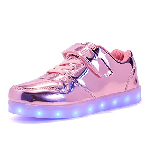 Axcer LED Zapatos Ligero Transpirable 7 Colores USB Carga Luminosas Flashing Deporte de Zapatillas Atletismo Gimnasia
