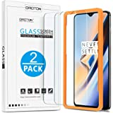 OMOTON Tempered Glass Screen Protector Compatible with OnePlus 6T 6.41 inch [2 Pack], Not Full Coverage