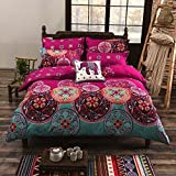 wuy Bedding set Bohemian Oriental Mandala Bedding Quilt Duvet Cover Set Twin Queen King Size 3pcs