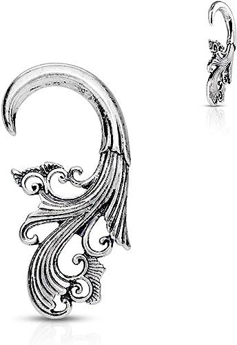 Tribal Antique Brass Plated Ear Spiral WildKlass Taper