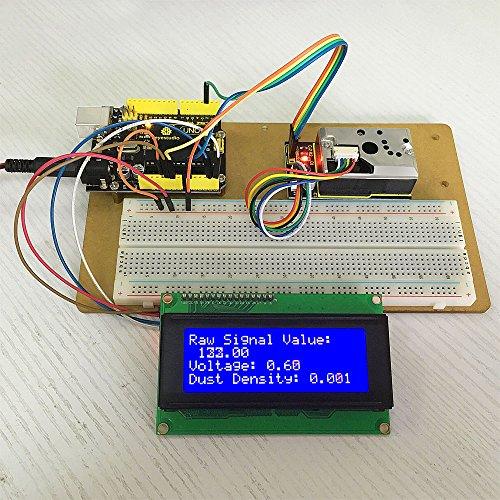 KEYESTUDIO Pm2.5 Sensor for Arduino Pm2.5 Air Particle Monitor for Arduino Mega 2560 Arduino Uno R3 Nano Micro Pro Mini Raspberry Pi by KEYESTUDIO (Image #4)