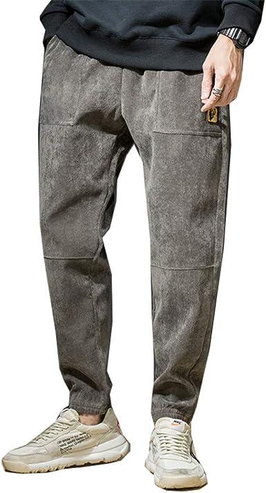 Pantalones De Pana De Los Hombres Retro Pantalones Hombre Streetwear Hip Hop Loose Pantalon Joggers Amazon Es Ropa Y Accesorios